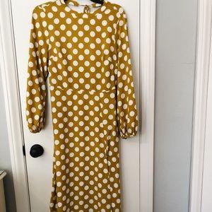 Topshop polka dot maxi dress